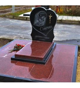 Памятник Сердце на могилу ребенку