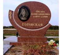 Элитный овальный памятник на могилу ts0383