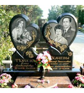 Памятник современный семейный на могилу ts0179