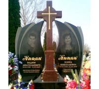 Мемориальный комплекс семейный с резным крестом ts0189