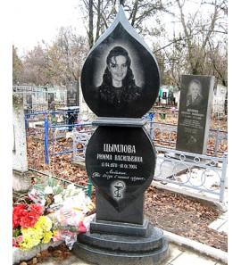 Памятник фигурный Свеча из черного гранита ts0192