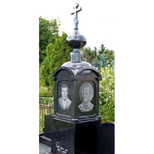 Мемориальный комплекс с крестом и куполом ts0249