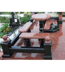 Стол и лавочка для оформления надгробия ts0268