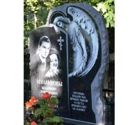 Памятник стела с резным ангелом для двоих ts0274