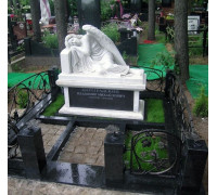 Скульптура ангела спящего на постаменте ts0313