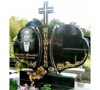 Памятник семейный в виде двух сердец ts0319