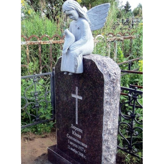 Памятник красивый со статуей ангела с голубем ts0322