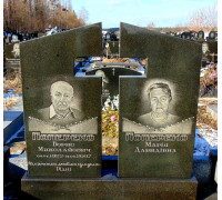 Памятник на двоих с прорезным крестом ts0323