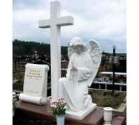Памятник красивый с крестом и ангелом ts0342