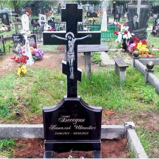 Памятник вертикальный крест ts0160