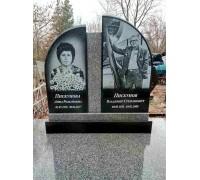 Семейный памятник на могилу из серого гранита