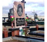 Памятник эксклюзивный с крестом и розами ts0148