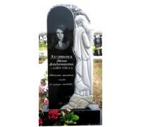 Надгробный вертикальный памятник на могилу со скорбящей
