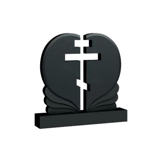 Памятник в форме Сердца с прорезным Крестом ts0380