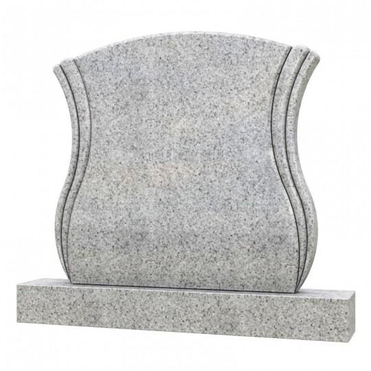 Горизонтальный фигурный памятник из серого гранита