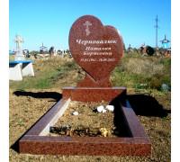 Памятник в форме Cердца из красного гранита ts0118