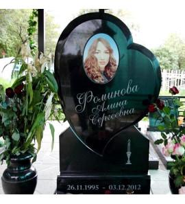 Памятник в форме Cердца для девушки ts0115