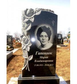 Памятник вертикальный резной с цветами ts0026
