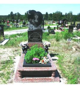 Памятник мусульманский в форме сердца с полумесяцем ts0141