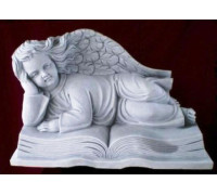 Скульптура ангелочка, лежащего на книге жизни ts0416