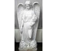 Статуя девушки Ангела с букетом цветов ts0429