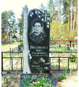 Памятник вертикальный с деревом ts0016