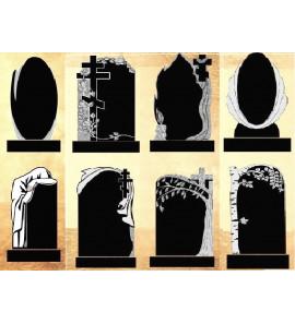 Типы и образцы памятников на могилу