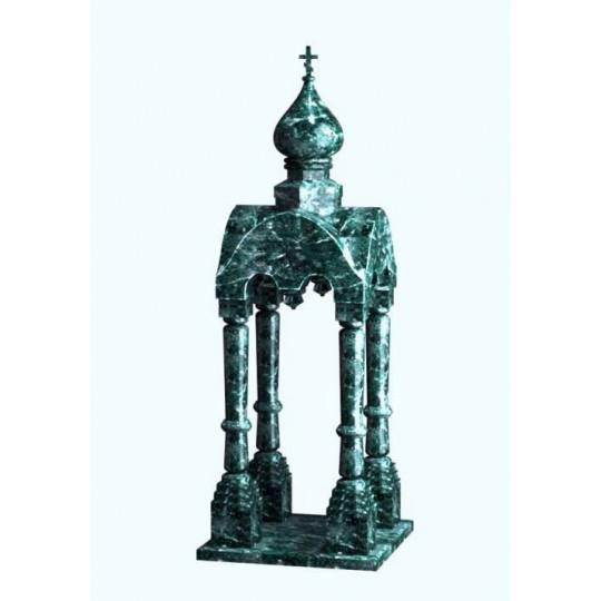 Элитный зеленый памятник Часовня ts0587