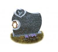 Памятник из серого гранита с Сердцем ts0613