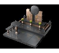 Оригинальный двойной мемориальный комплекс 3D макет ts0523