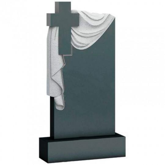 Памятник вертикальный Крест с Плащаницей ts0371