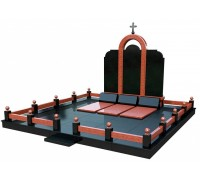 Семейный православный мемориальный комплекс в 3D формате ts0529