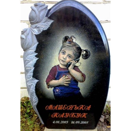 Памятник ребенку с цветами ts0190