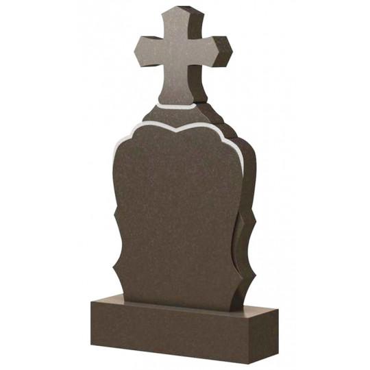 Вертикальный памятник с Крестом ts0473