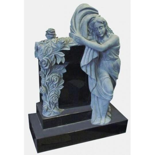 Памятник Ангел с розами ts0446