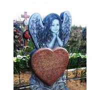 Памятник гранитный с ангелом ребенку ts0075