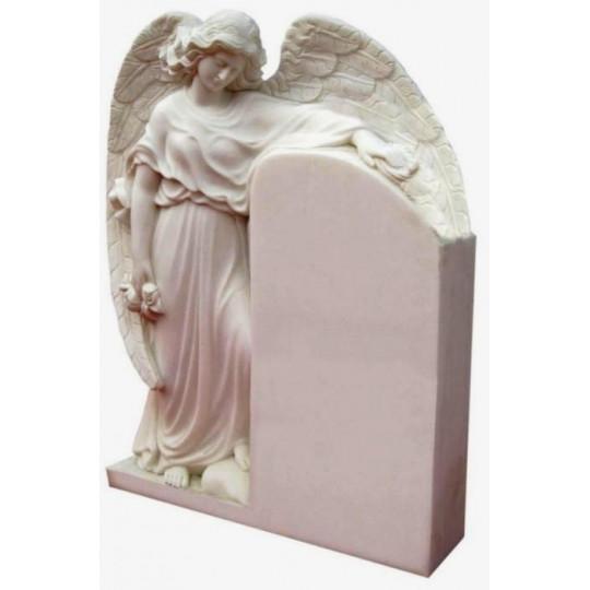 Памятник - стела под крылом Ангела ts0441