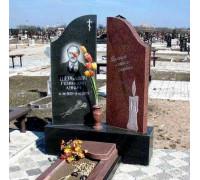 Памятник эксклюзивный со свечой ts0107