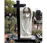 Памятник эксклюзивный с крестом и ангелом ts0128
