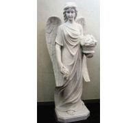 Статуя Ангела-девушки с вазой цветов в руках ts0425