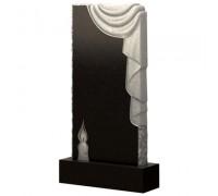 Памятник Скала со свечой и плащаницей ts0497