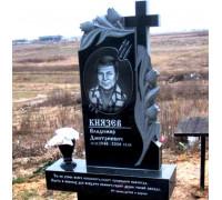 Памятник вертикальный с резными цветами ts0135