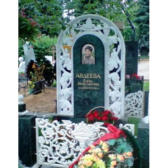 Элитный зеленый памятник с Аркой ts0583