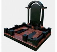 Мемориал из гранита с аркой в 3D формате ts0526