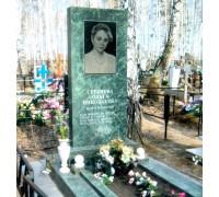 Прямоугольный зеленый памятник на могилу ts0591