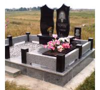 Ограда гранитная на могилу ts0058