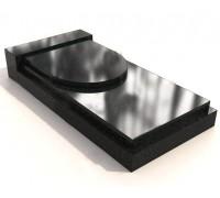 Прямоугольная двойная закрытая надгробная плита ts0600