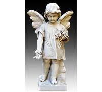 Гранитная статуя Ангелочка для памятника ts0421