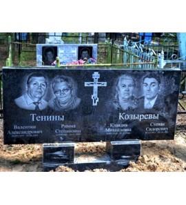 Большой прямоугольный семейный памятник на могилу