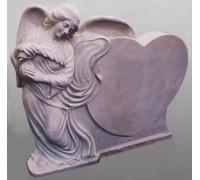 Памятник с Сердцем и Ангелом ts0442
